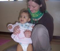 Educational Center Volunteer Baby and Volunteer