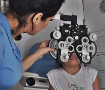 Educational Center Volunteer Eye Examination