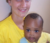Educational Center Volunteer and Baby