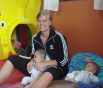 Educational Center Volunteer and babies