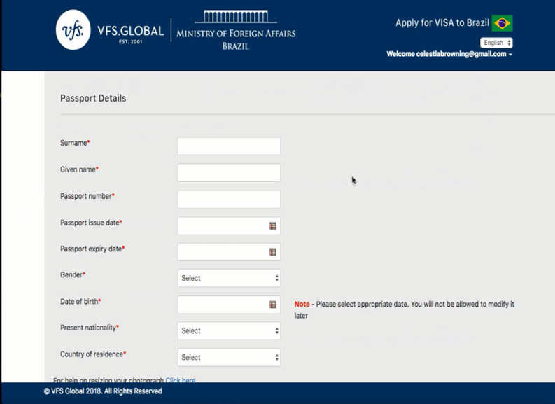 Apply for your VISA fully online - Brazilian Experience